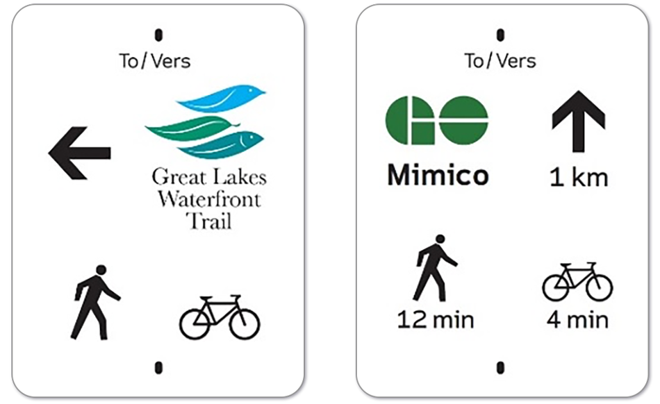 Trail To Go sign example