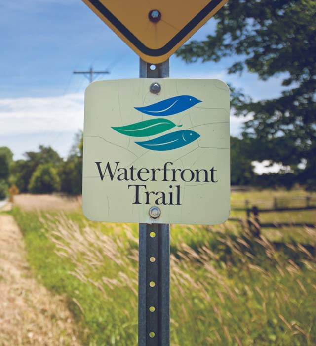 Waterfront Trail Sign