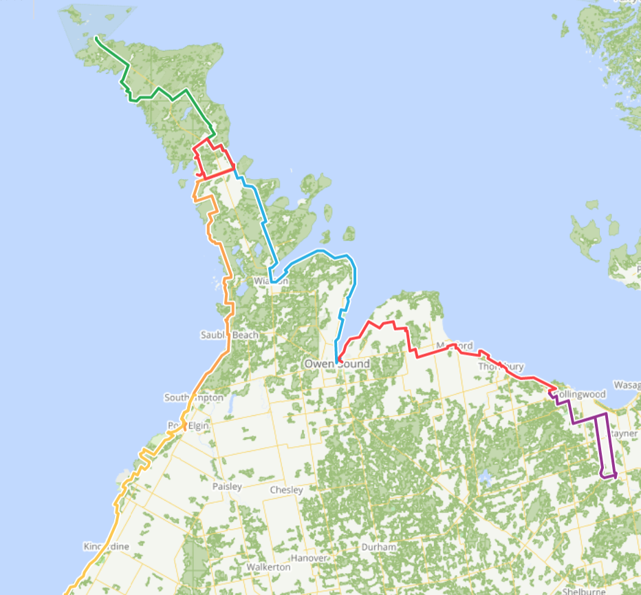 Map show overview of route